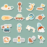 Space icons Royalty Free Stock Photos