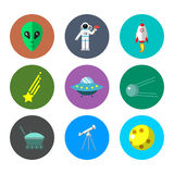Space Icons set Stock Images