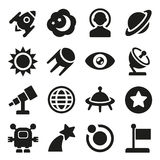 Space icons set Stock Image