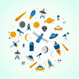 Space icons Royalty Free Stock Images