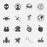 Space icons set.vector. Royalty Free Stock Image