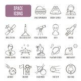 Space icons. Set of vector pictogram Stock Photos