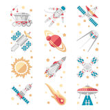 Space Icons Vector Set. Space Icons set Vector Collection flat style Royalty Free Stock Images