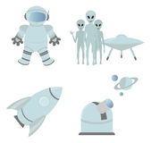 Space icons Stock Photography