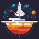 Space illustration. Planets of solar system Stock Images