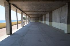 Space inside the unfinished building unfinished Royalty Free Stock Photo