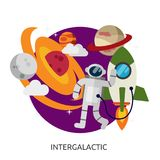 Space Intergalactic Vector Image Royalty Free Stock Image