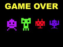 Space invaders game over Royalty Free Stock Images