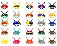Space invaders Stock Photo