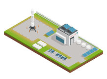 Space Isometric Composition Royalty Free Stock Images