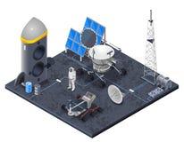 Space Isometric Concept Stock Photo