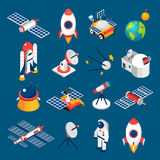 Space Isometric Icons Royalty Free Stock Image