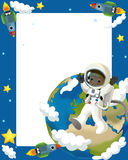 The space journey - happy and funny mood - illustration for the children Stock Images