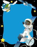 The space journey - happy and funny mood - illustration for the children Royalty Free Stock Images