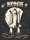 Space Journey Monochrome Print Royalty Free Stock Photo