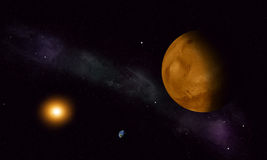 Space Journey to Mars Stock Image