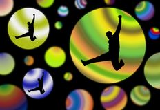 Space jump Stock Photos