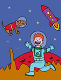 Space Kid Royalty Free Stock Photography