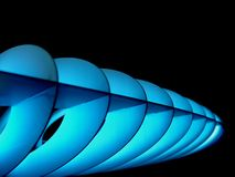 Space lamp. Metal designer lamp with blue light effect Stock Photography