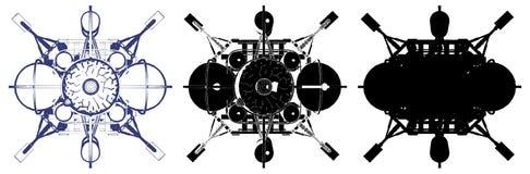 Space Lander Illustration Vector Royalty Free Stock Image