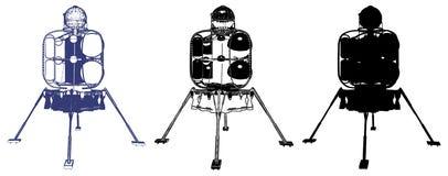 Space Lander Illustration Vector Royalty Free Stock Photos