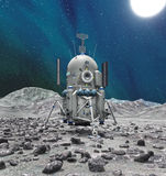 Space lander on planet or comet Royalty Free Stock Image