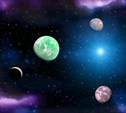 Space landscape Royalty Free Stock Photo