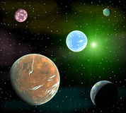 Space landscape Stock Photos