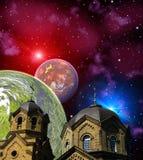 Space landscape Stock Images