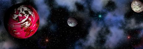 Space landscape Royalty Free Stock Photos