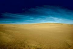 Space landscape. Background of sandy landscape and dark sky royalty free stock photos