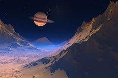 Space landscape. Stock Image