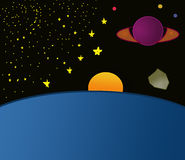 Space landscape Royalty Free Stock Image