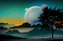 Space landscape Royalty Free Stock Photography