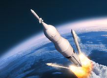 Space Launch System Solid Rocket Boosters Separation Royalty Free Stock Images