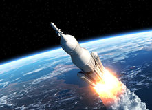 Space Launch System Takes Off Royalty Free Stock Image