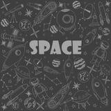 Space line art design vector illustration Stock Image