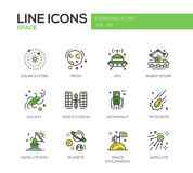 The Space - line design icons set Royalty Free Stock Photography
