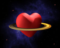 Space love Stock Images