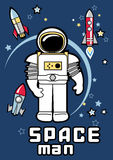 Space man. Royalty Free Stock Image