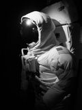 Space man. An astronaut set up under dramatic lighting - black and white Stock Photography
