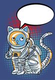 Space Man comic art.Astronauts fly in The space and atmosphere background.Comic Space man Halftone and Pop art style. Astronauts fly in The space and atmosphere Royalty Free Stock Image
