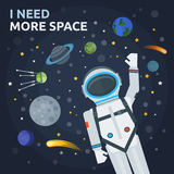 Space And Man Concept Stock Images