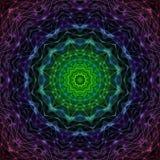Space Mandala 01. Abstract background with colorful Mandala Art Stock Image