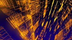 Space matrix sphere background Stock Image