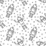 Space memphis seamless pattern. Stock Photo