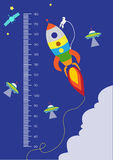 Space,Meter wall or height meter from 50 to 180 centimeter,Vector illustrations Stock Photo