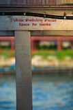 Space For Monks Sign Thai Buddhist Reverence Stock Image