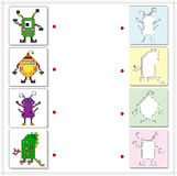 Space monsters and aliens. Educational game for kids Stock Photo