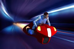 The space motorcycle. Stock Photo